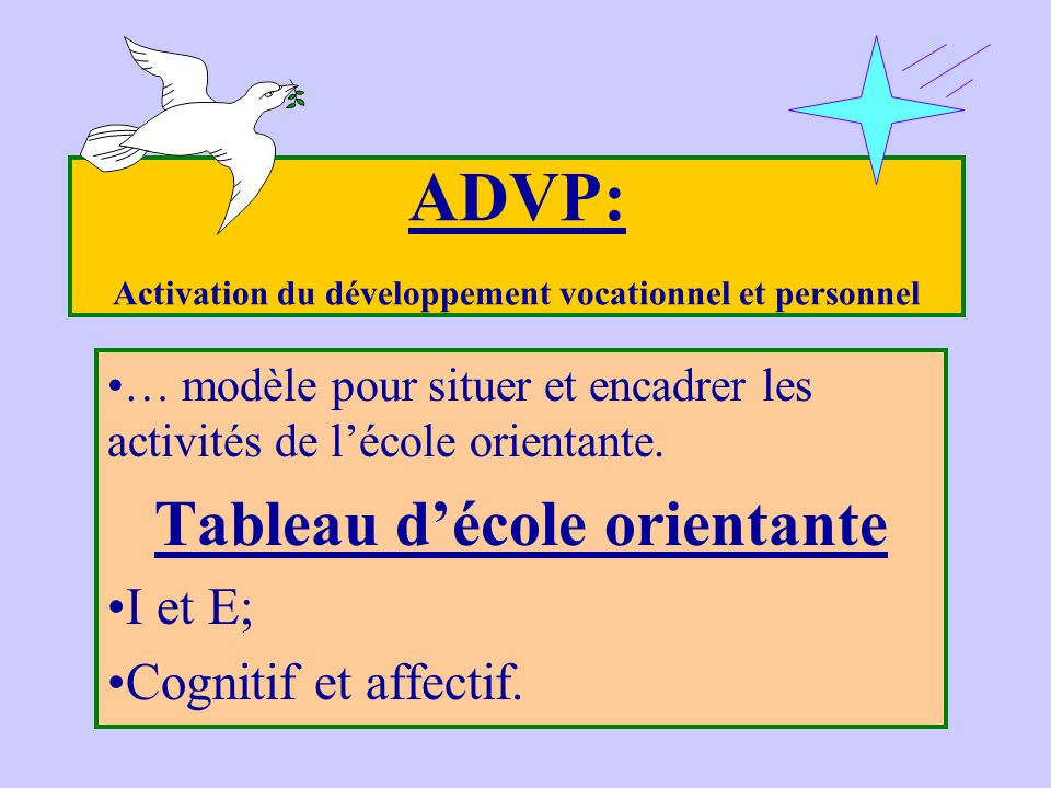 ADVP: Activation du développement vocationnel et personnel