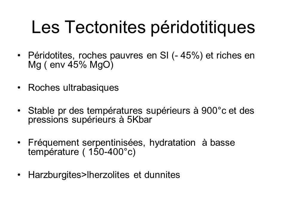 Les Tectonites péridotitiques