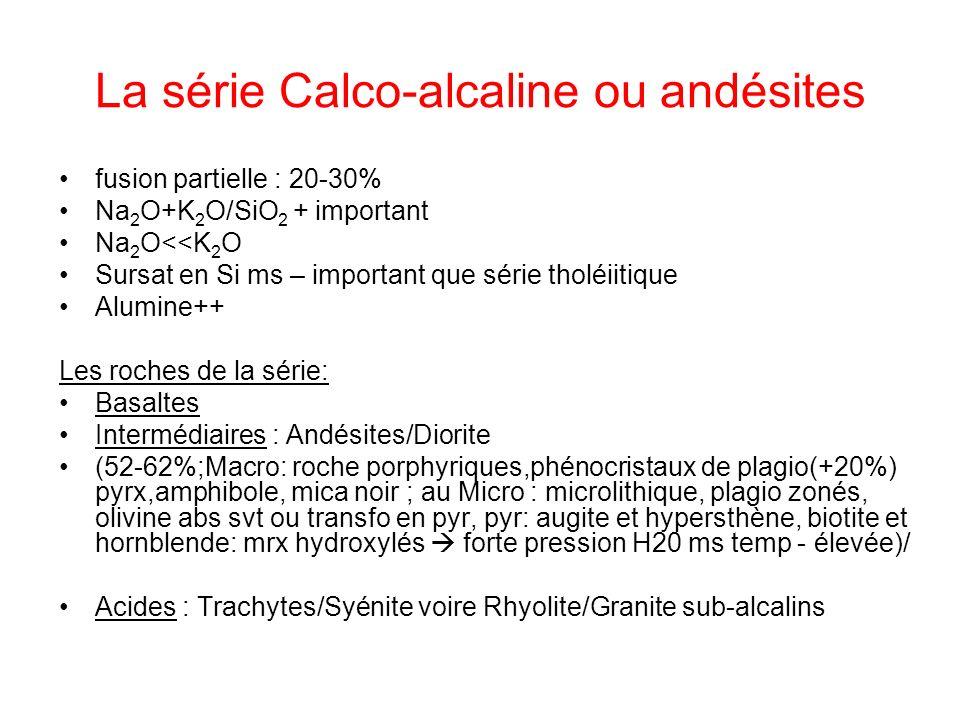 La série Calco-alcaline ou andésites