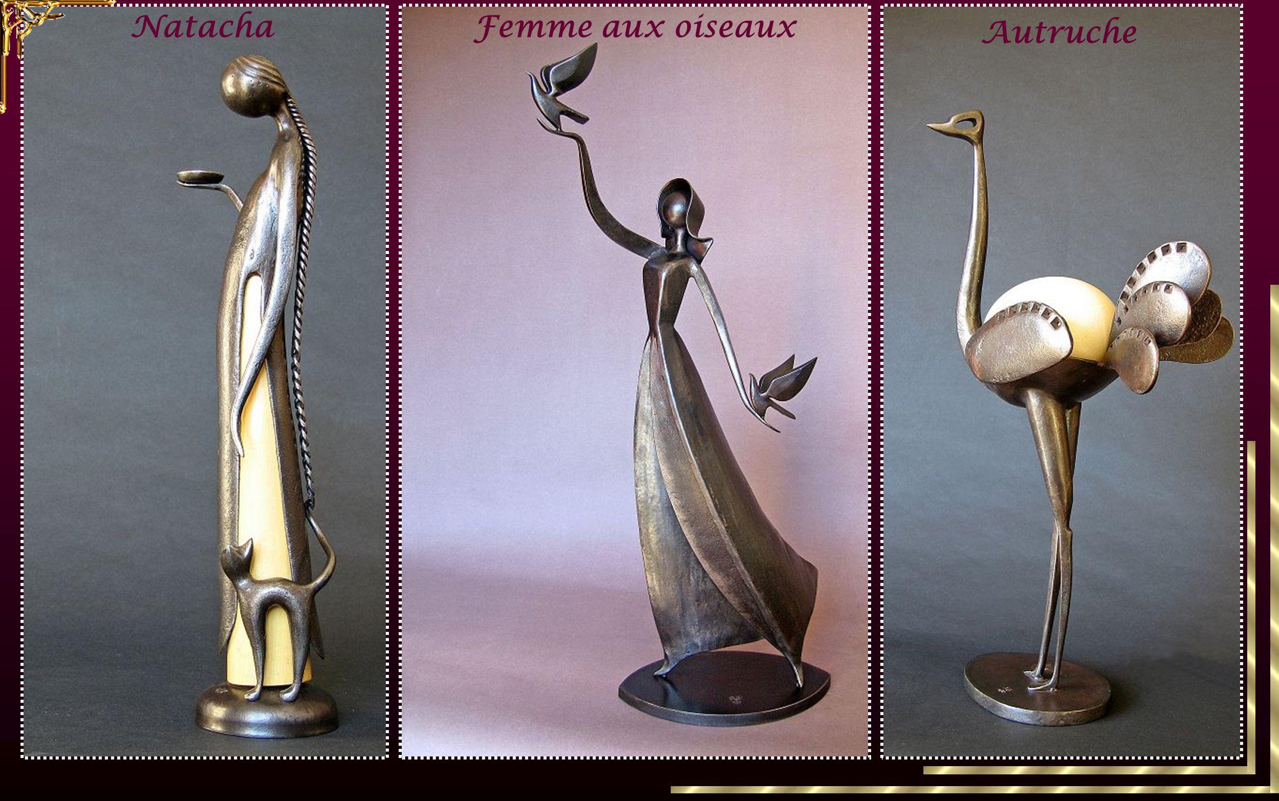 Natacha Femme aux oiseaux Autruche