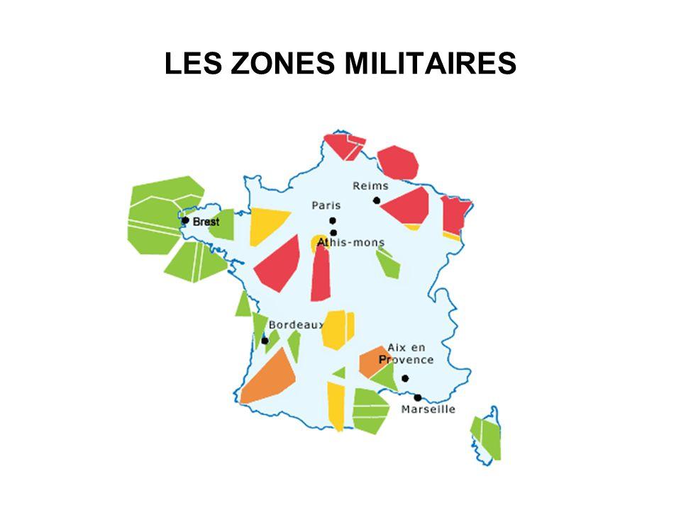 LES ZONES MILITAIRES