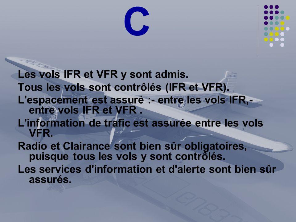 C Les vols IFR et VFR y sont admis.