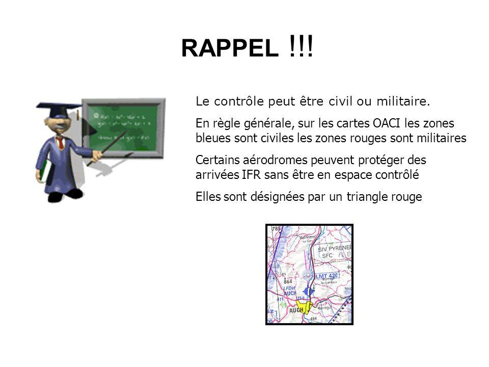RAPPEL !!! Le contrôle peut être civil ou militaire.