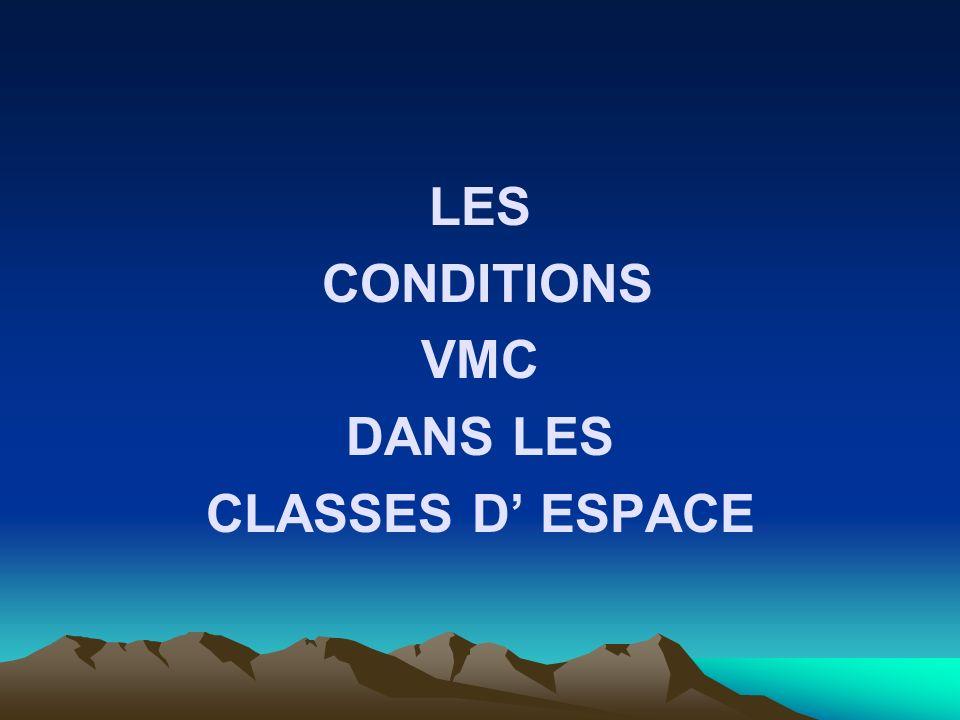 LES CONDITIONS VMC DANS LES CLASSES D' ESPACE