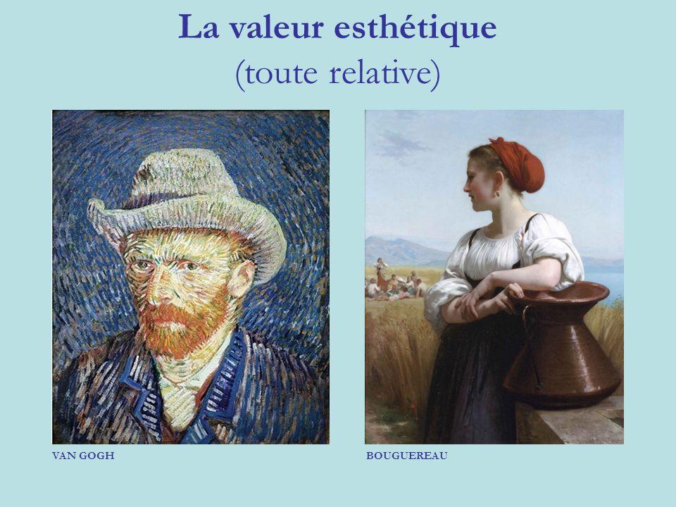 La valeur esthétique (toute relative) VAN GOGH BOUGUEREAU