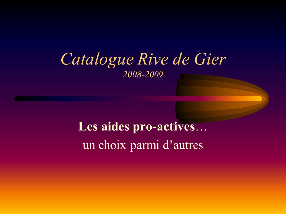 Catalogue Rive de Gier 2008-2009