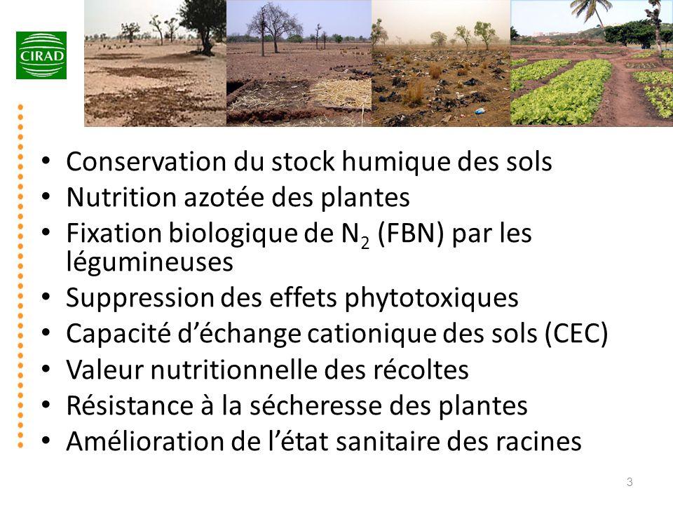 Conservation du stock humique des sols