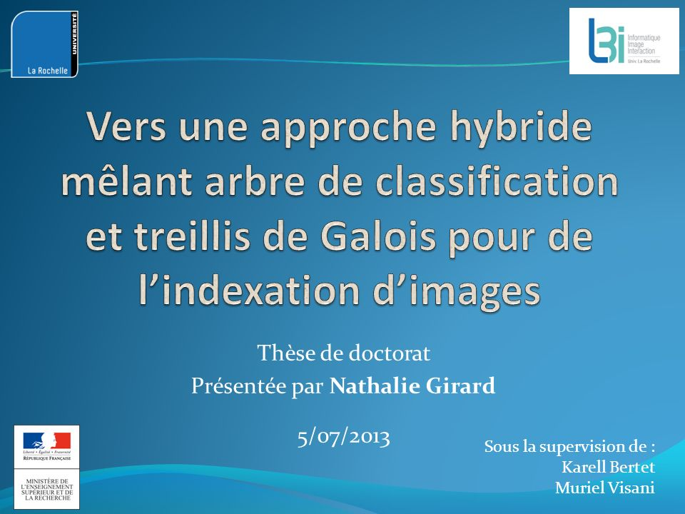 Thèse de doctorat Présentée par Nathalie Girard 5/07/2013