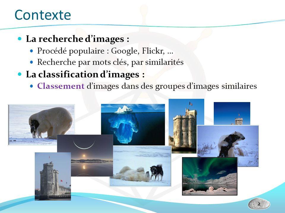 Contexte La recherche d'images : La classification d'images :