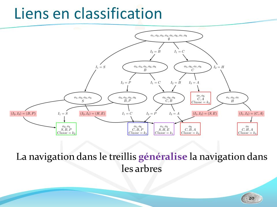 Liens en classification