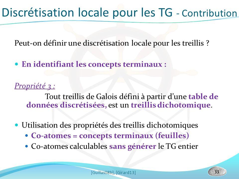 Discrétisation locale pour les TG - Contribution