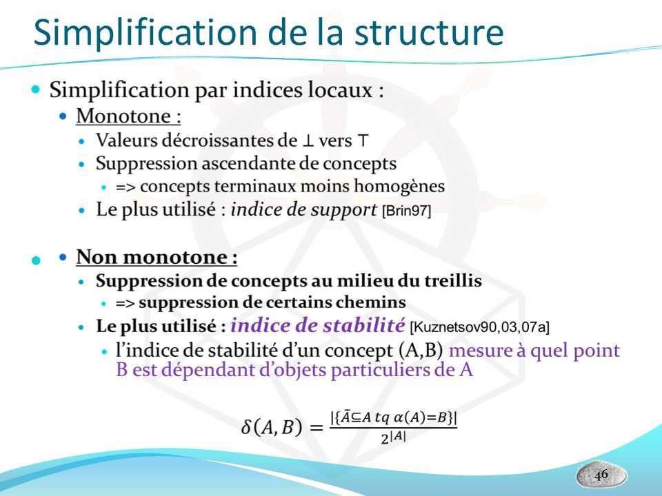 Simplification de la structure