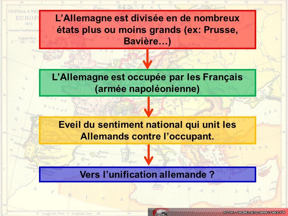 L'Allemagne est occupée par les Français (armée napoléonienne)