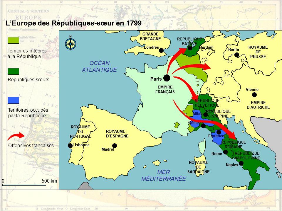 L'Europe des Républiques-sœur en 1799