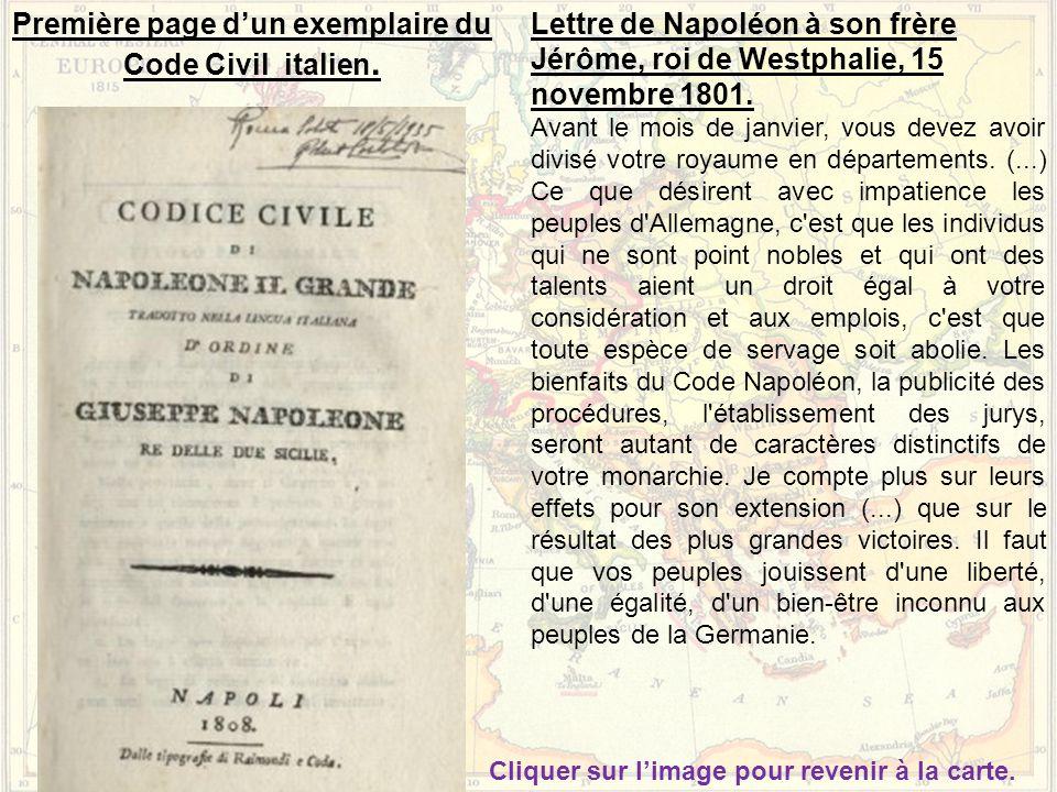 Première page d'un exemplaire du Code Civil italien.