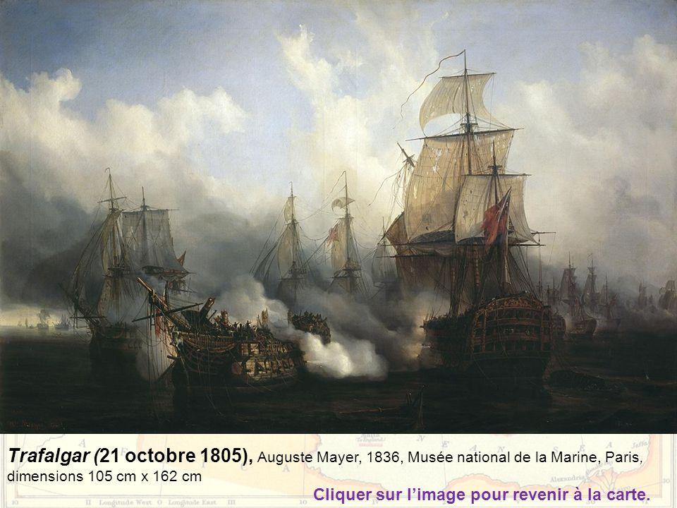 Trafalgar (21 octobre 1805), Auguste Mayer, 1836, Musée national de la Marine, Paris, dimensions 105 cm x 162 cm
