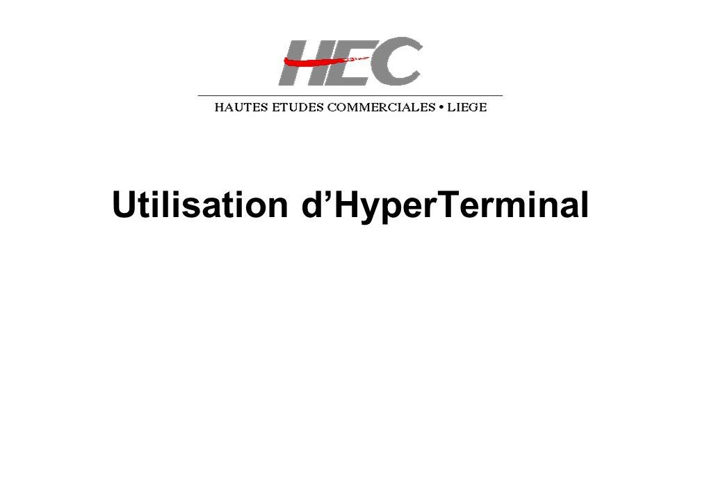 Utilisation d'HyperTerminal