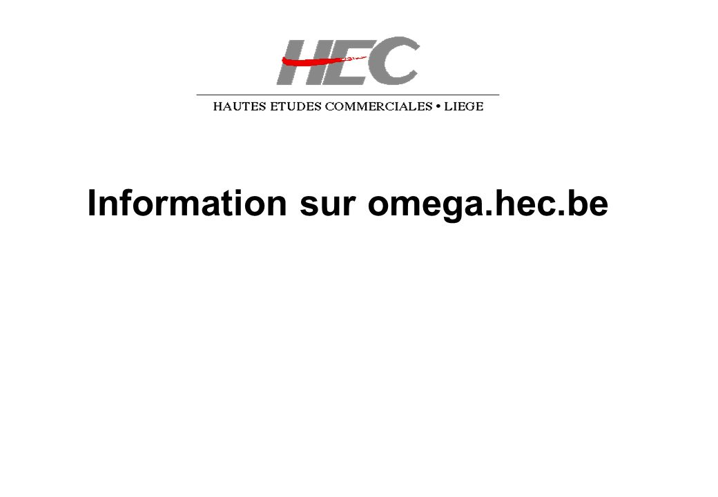 Information sur omega.hec.be