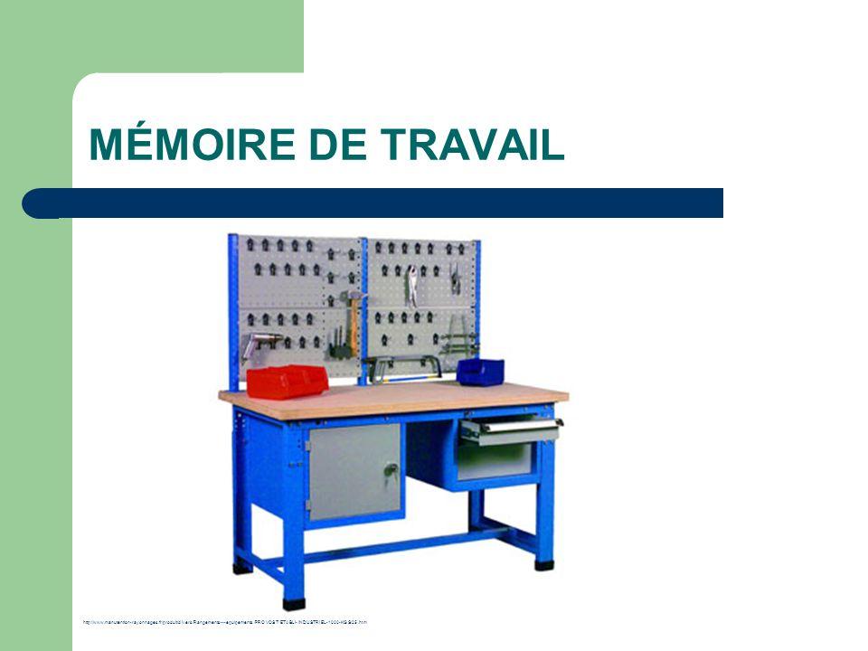 MÉMOIRE DE TRAVAIL http://www.manutention-rayonnages.fr/produit/divers/Rangements---equipements/PROVOST/ETABLI-INDUSTRIEL-1000-KGS/25.htm.