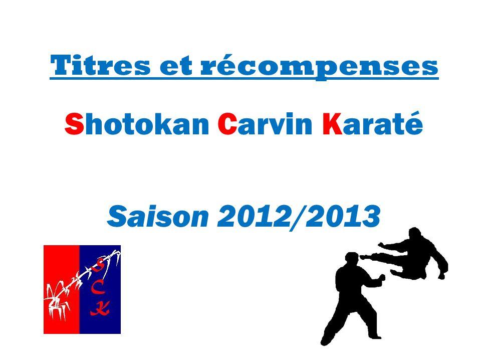 Shotokan Carvin Karaté Saison 2012/2013