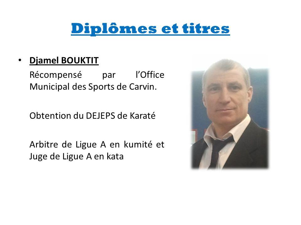 Diplômes et titres Djamel BOUKTIT