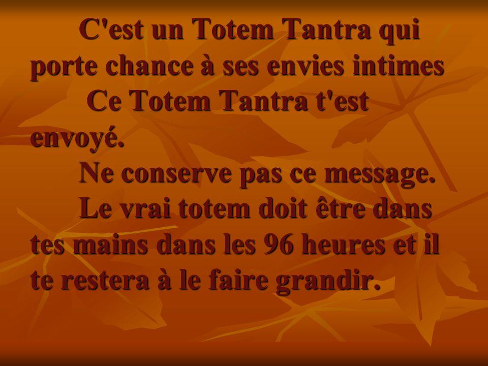 C est un Totem Tantra qui porte chance à ses envies intimes