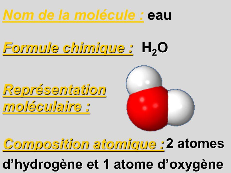 Représentation moléculaire :