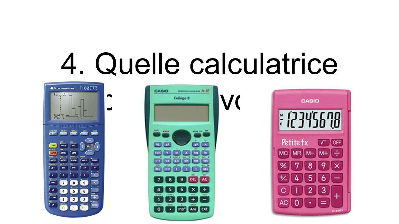 4. Quelle calculatrice préférez-vous