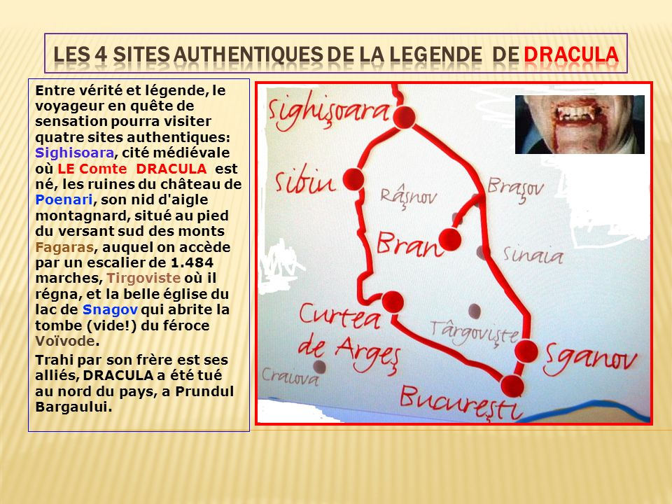LES 4 SITES AUTHENTIQUES DE LA LEGENDE DE DRACULA