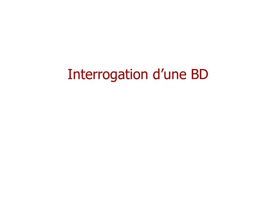 Interrogation d'une BD