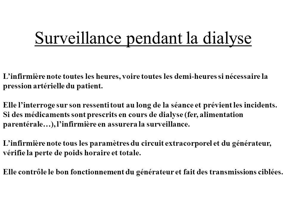 Surveillance pendant la dialyse