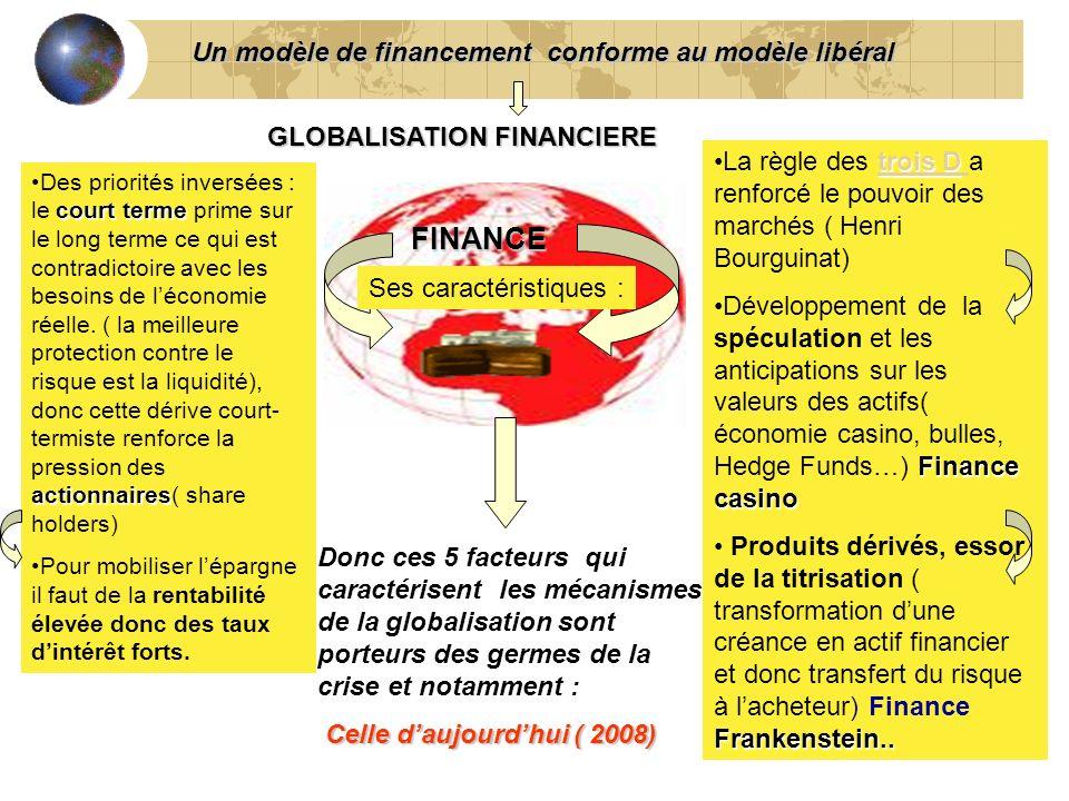 FINANCE Un modèle de financement conforme au modèle libéral