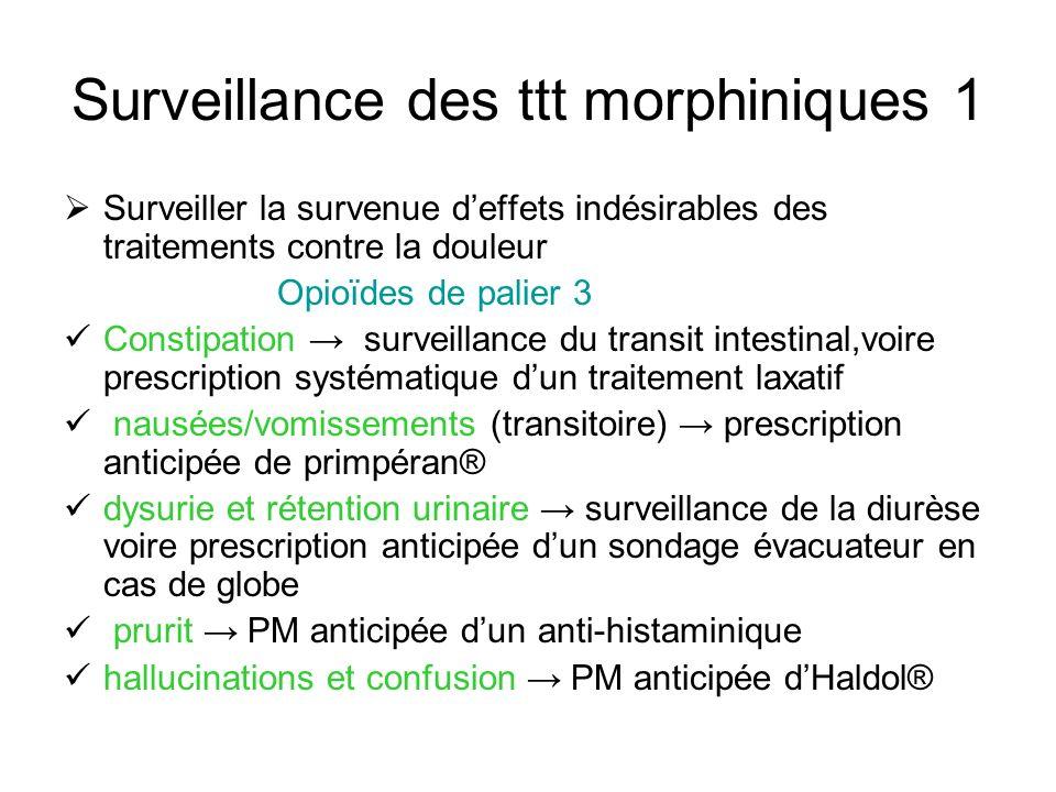 Surveillance des ttt morphiniques 1