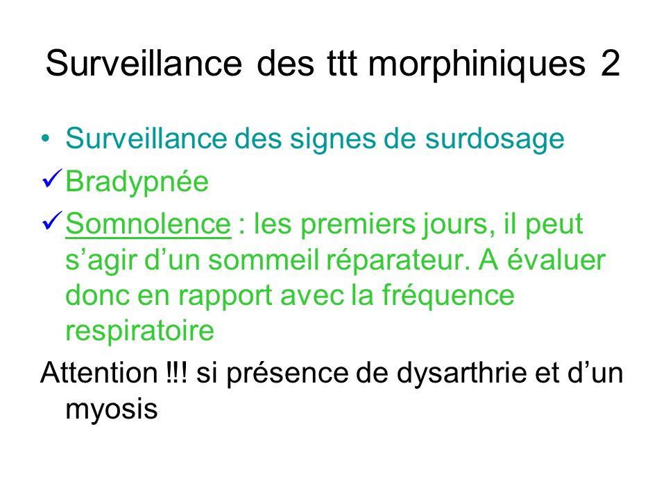 Surveillance des ttt morphiniques 2