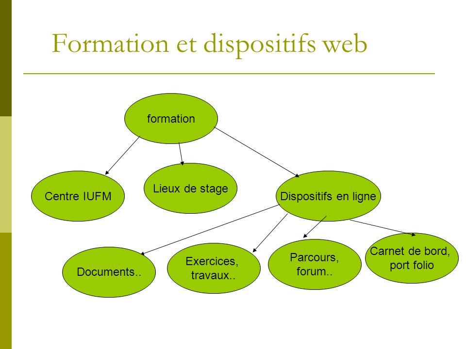 Formation et dispositifs web