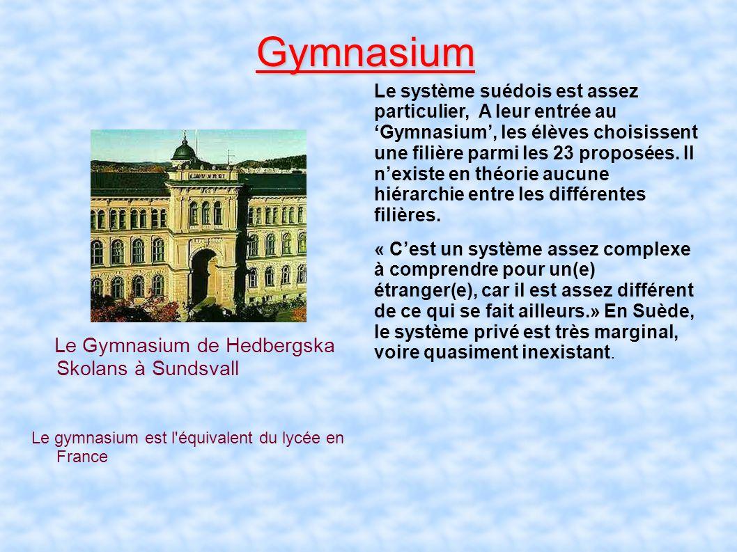 Gymnasium Le Gymnasium de Hedbergska Skolans à Sundsvall