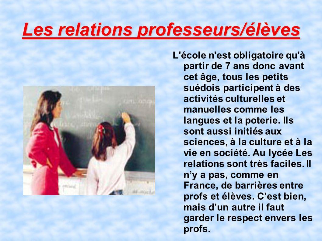 Les relations professeurs/élèves