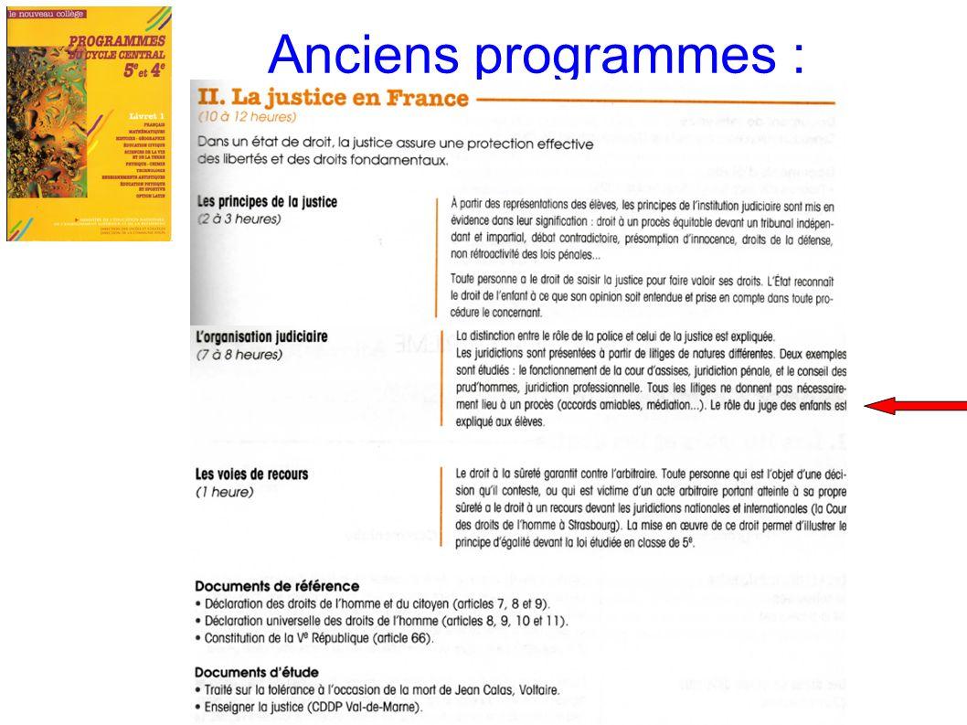 Anciens programmes :