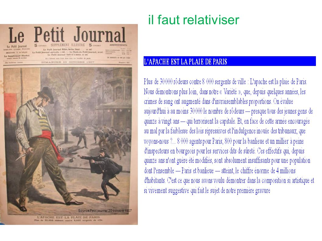 il faut relativiser Source Petit journal 20 octobre 1907
