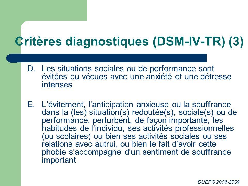Critères diagnostiques (DSM-IV-TR) (3)