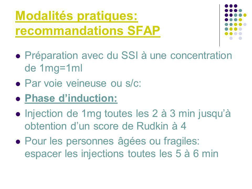 Modalités pratiques: recommandations SFAP