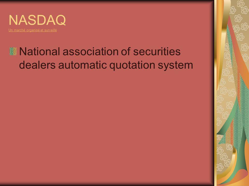 NASDAQ Un marché organisé et surveillé