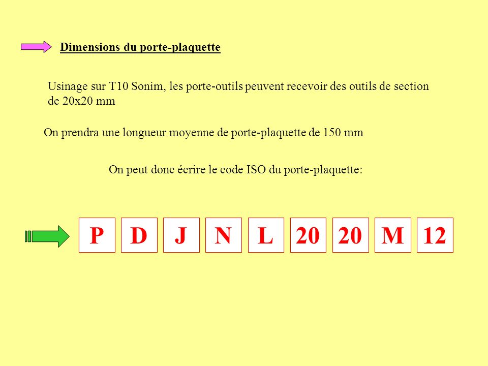 P D J N L 20 20 M 12 Dimensions du porte-plaquette
