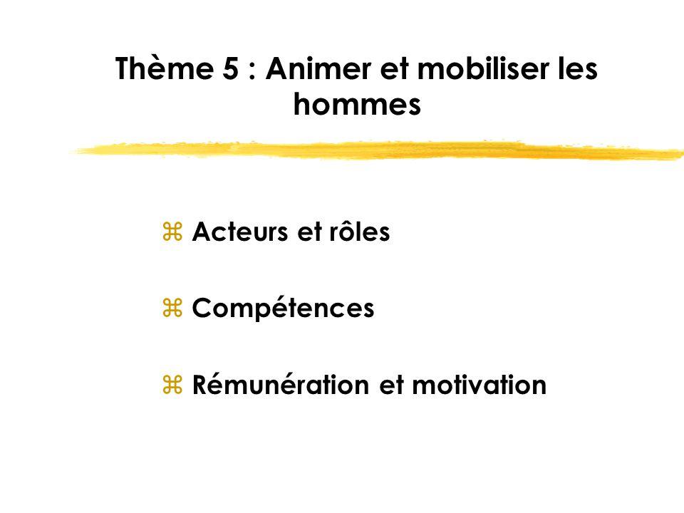 Thème 5 : Animer et mobiliser les hommes