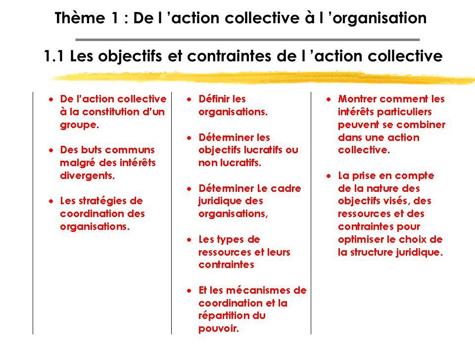 Thème 1 : De l 'action collective à l 'organisation 1