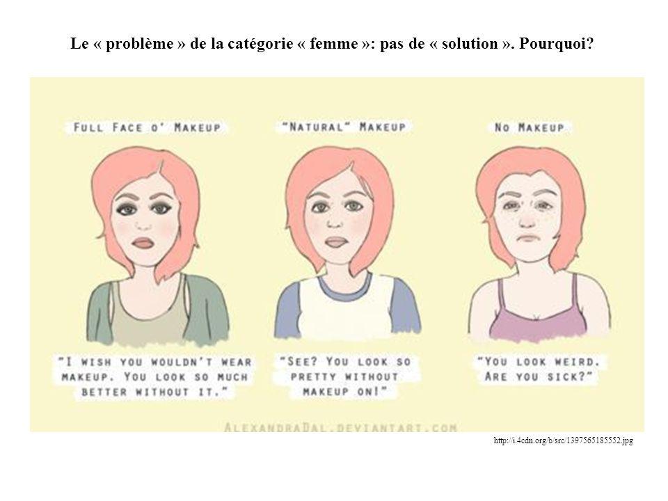 Le « problème » de la catégorie « femme »: pas de « solution »