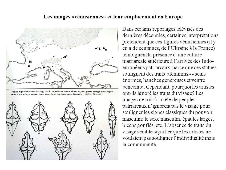 Les images «vénusiennes» et leur emplacement en Europe