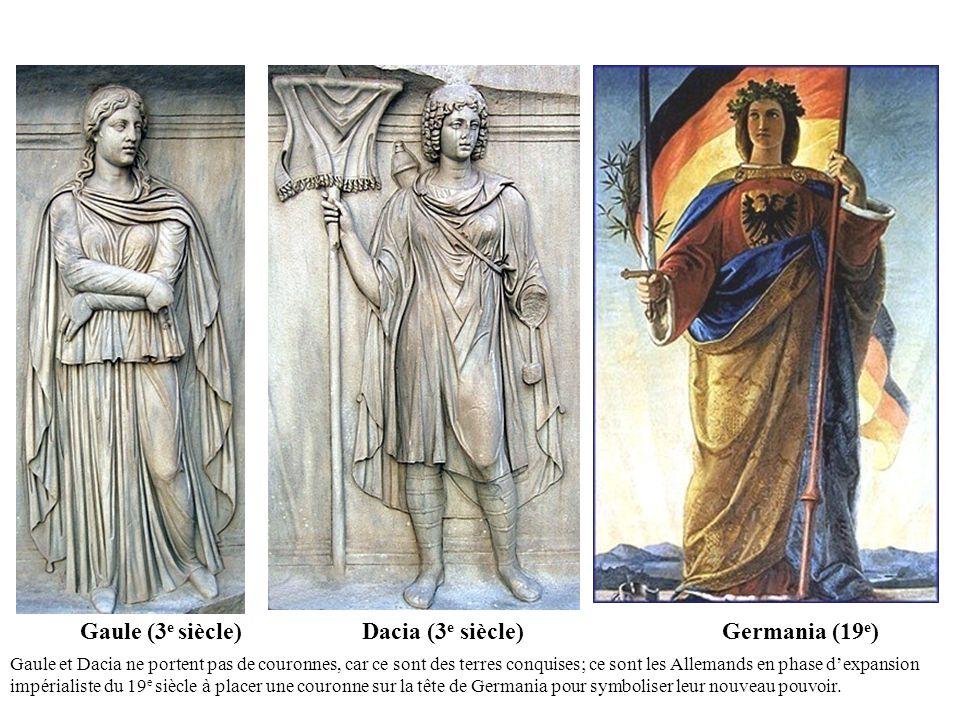 Gaule (3e siècle) Dacia (3e siècle) Germania (19e)