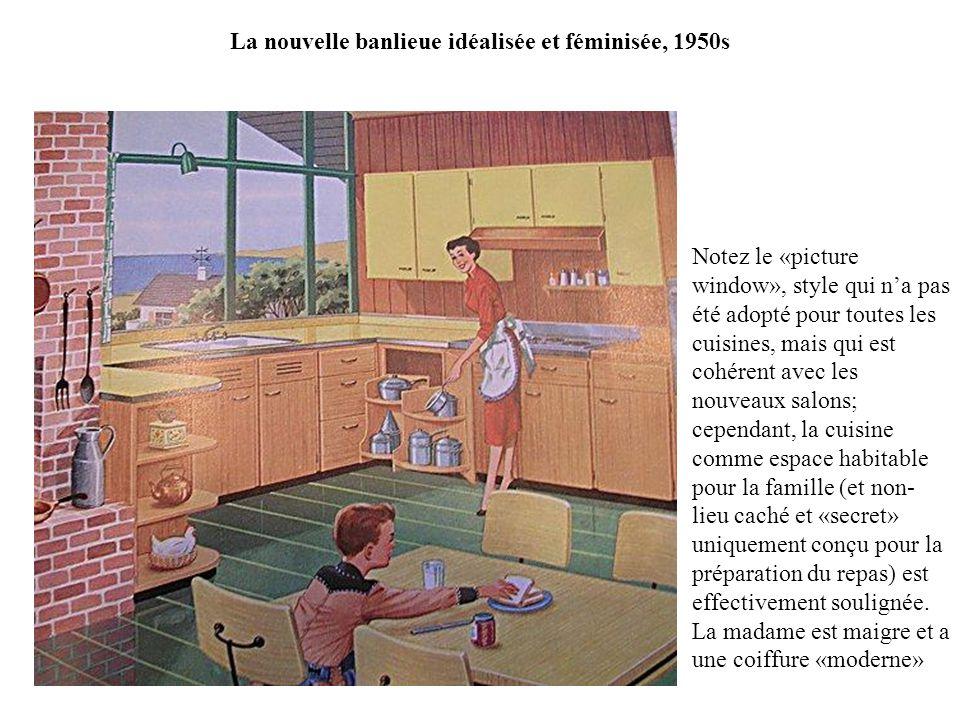 La nouvelle banlieue idéalisée et féminisée, 1950s