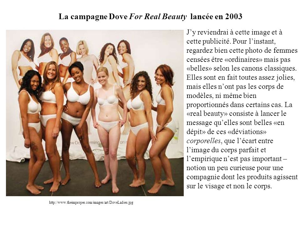 La campagne Dove For Real Beauty lancée en 2003